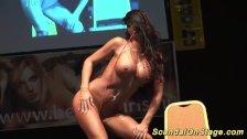 busty flexible stripper on stage