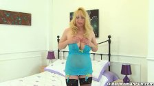 British finest milf Lucy Gresty in stockings