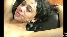 Cute Young Teen Covered In Cum