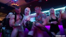 Amazing pornstars fucking in a club at party