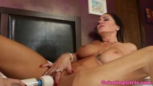 Busty lesbian toys sapphic babe