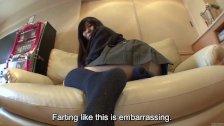 Subtitles farting Japanese schoolgirl in HD