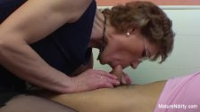 Mature slut with glasses enjoys getting fucked