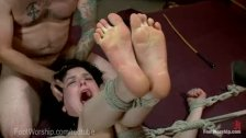 Rough Bondage Foot Fetish Threesome