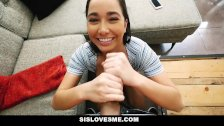SisLovesMe- Helpful step sis finally helps me cum