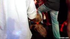 Bi pornstars fuck in a club