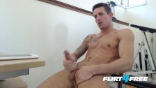 Handsome Dude Aidan Blue Beats His Big Cock to Perfection