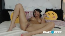 Hard Bodied Hottie Cherry Devivre Squirts All Over Her Bed