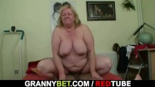 Huge titted granny tastes yummy cock