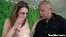 Pretty girl Samitha Faye gets her pussy drilled hard
