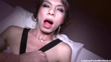 Ladyboy Belle Creampie For A Little Stallion