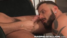 RagingStallion Latino Big Dicks Cum After Intense Fucking