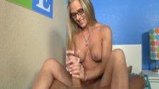 Naughty mature lady handjob