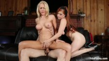 Sexy babes Alix & Penny share a big cock