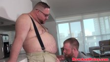 Mature superchub fucked and facialized by cub