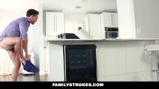 FamilyStrokes - Hot Teen Fucks Her Step-Cousin In Kitchen