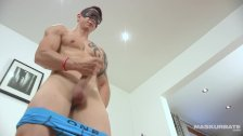 Maskurbate Str8 Jock Jerks Off his Big Cock