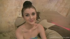 Petite beauty knows how to give a blowjob