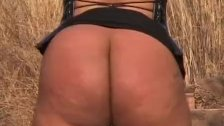 African slut gets punished while tied up