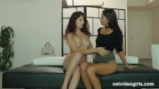NetVideoGirls - Latina Mika has 1st threesome
