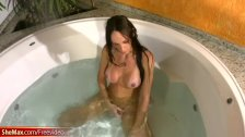 T-girl with perfect boobs enjoys her jerking