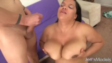 Ebony plumper gets fucked hard