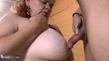 AgedLove BBW Latina Granny fucks with boy