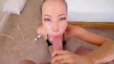 Kalina Ryu Taking Pole Down Her Gullet