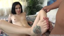 Bobbi Dylan Wraps Feet Around Big Cock