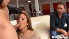Hot wife cuckold with facial