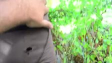 Black hung amateur twunk jerksoff outdoors