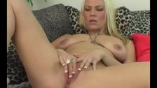 Horny Blonde Xana Masturbating