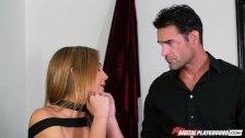 DP Star 3 - Flexible Tall Blonde Blair Williams Deep Throat Blowjob