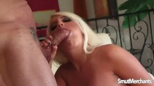 Big areolaed blonde cum in mouth