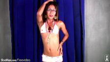 Teen Filipino ladyboy loves to dance and play with girl rod