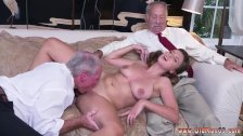 Young and old grope in bus and old man