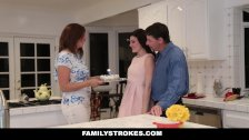 FamilyStrokes - Fucking My Stepdad While Mom Cooks - duration 8:14