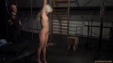 Mistress Candee Licious bondage punished with hard paddle - duration 7:11