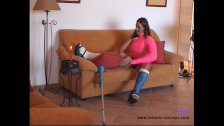 Fetisch-Concept com - Cast Leg Teen Masturbating at home -