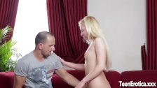Beautiful young blonde takes it in both holes