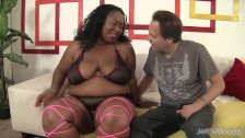 Big tittied thick black girl take long white cock