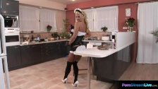 Stunning blonde Ginger Jones is a sexy housemaid