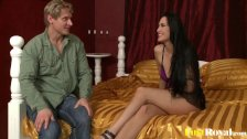 Horny Carmen Rose gets pleasured in a threesome