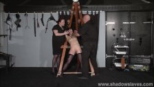 Enslaved painslut Elise Graves whipping in hard bdsm punishment session of