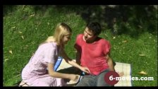 6-movies com - Young german couple having great outdoor sex -