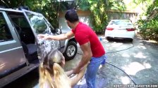 Naughty Teen Daughter Sierra Nicole Fucks The Carwash Man (dfmd15689)
