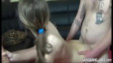 Homemade gangbangs with young amateur girls