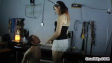 Isobel Smothers Her Slave's Face with Her Ass!