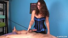 Cock massage punishment