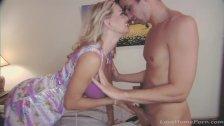 Gorgeous blonde milf seduces a young stud